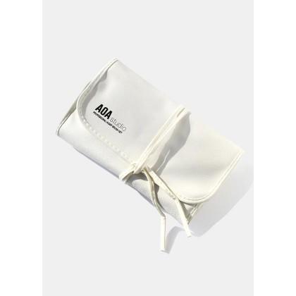 AOA White Brush Roll Bag